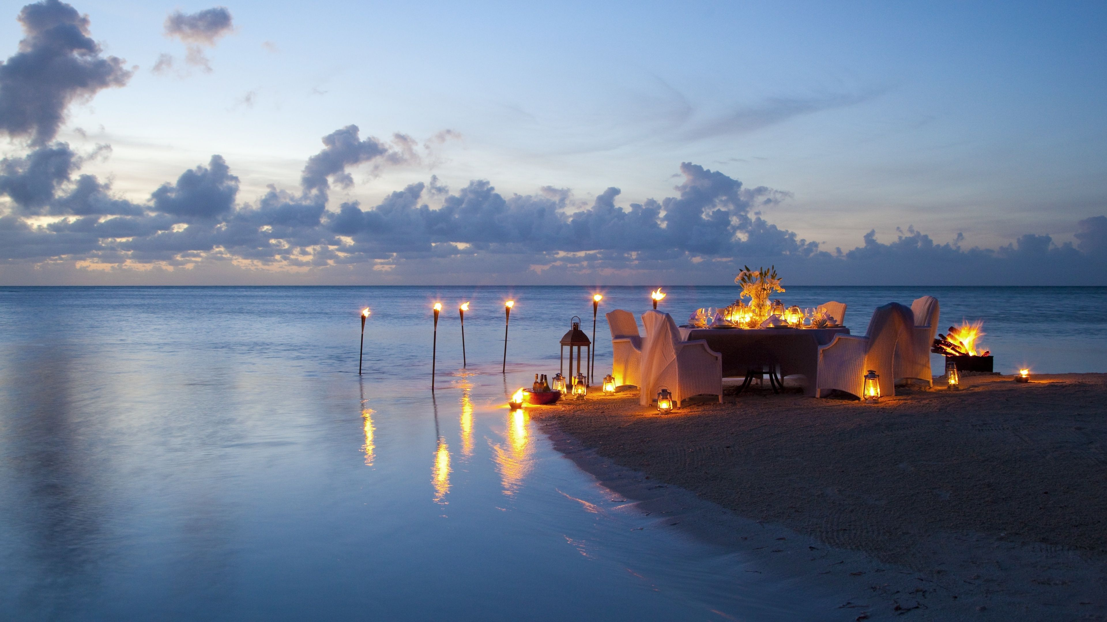 Awesome Romantic Candle Light Dinner At Beach Check More At
