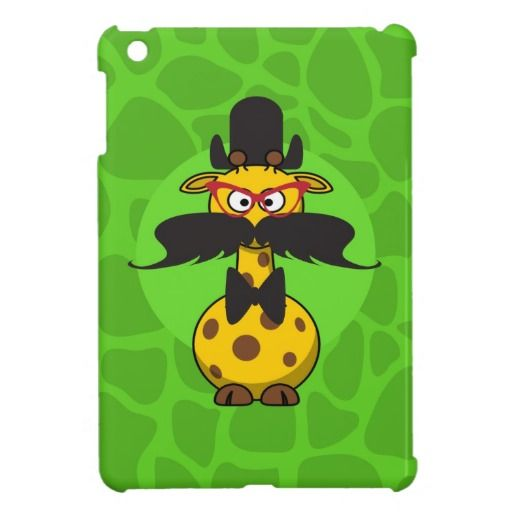 Funny Undercover Giraffe in Mustache Disguise Cover For The iPad Mini
