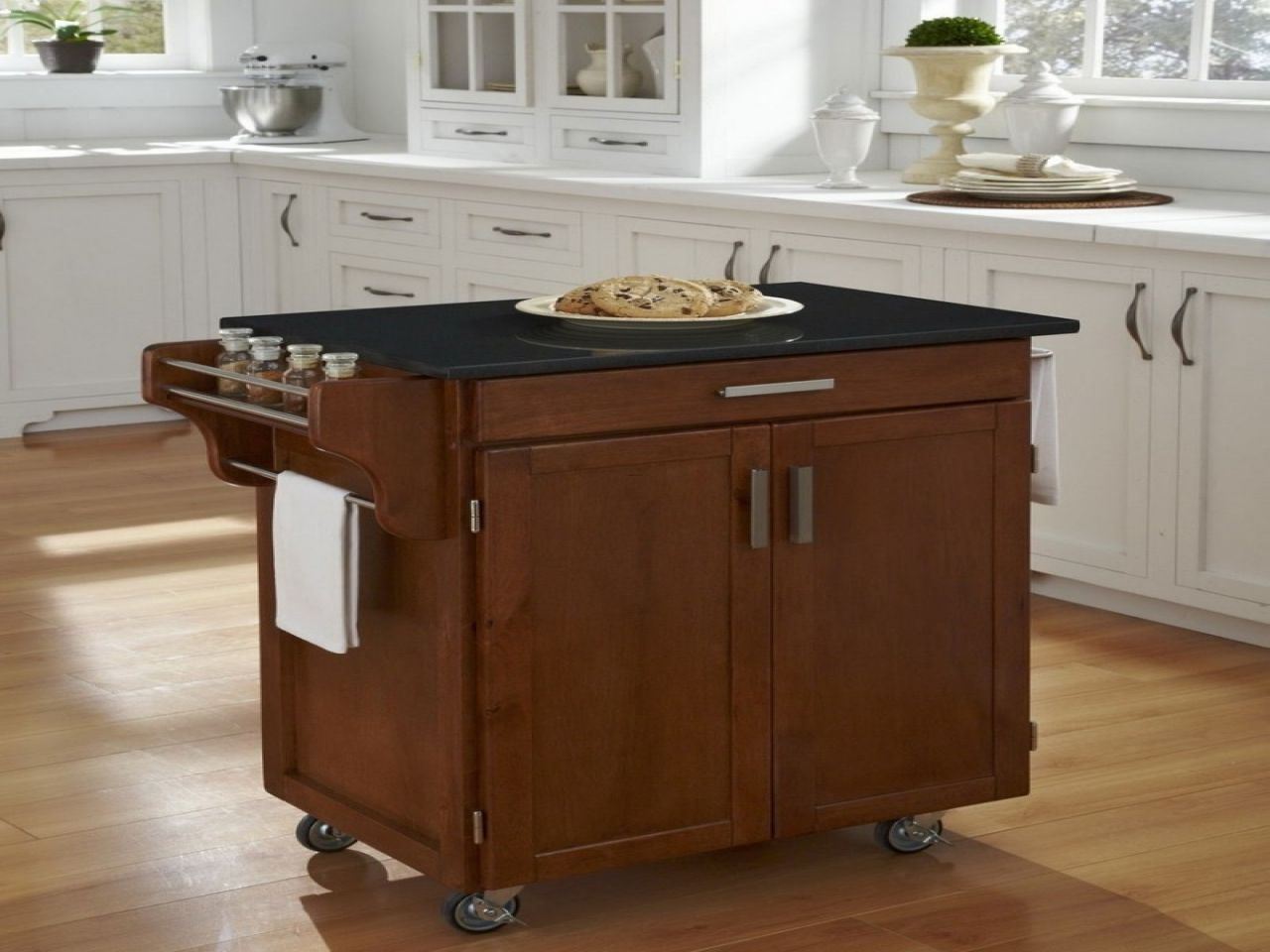 Movable kitchen island with seating rolling and designs carts granite