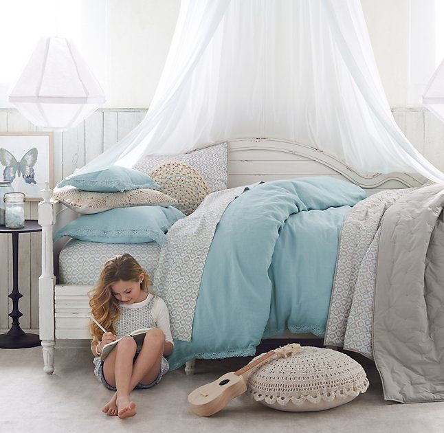 Sheer Cotton Bed Canopy Girls Bedroom Bed Bedroom
