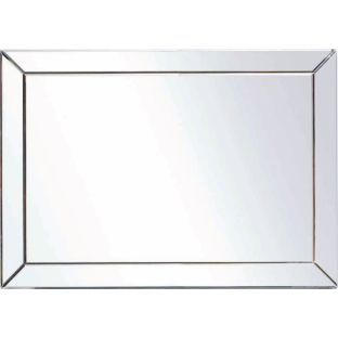Buy Living Extra Large Bevelled Edge Wall Mirror At Argoscouk
