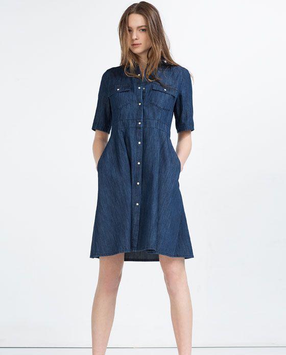 15b5a41c7 Image 1 of DENIM DRESS from Zara | Style Inspirations | Womens denim ...