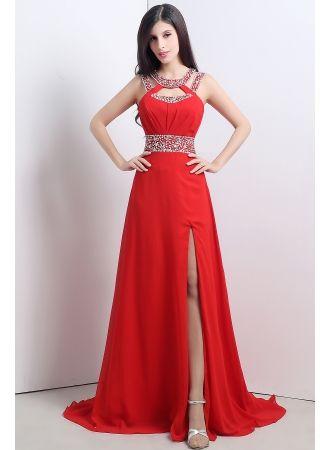 schlichte rote abendkleider lang günstig chiffon royalblau abendmoden abiballkleider online