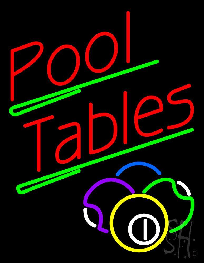 Neon Table Light: Neon Signs, Pool Table, Neon