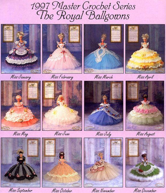 Annies Attic Royal Ballgowns Crochet Pattern, Miss September 1998 ...
