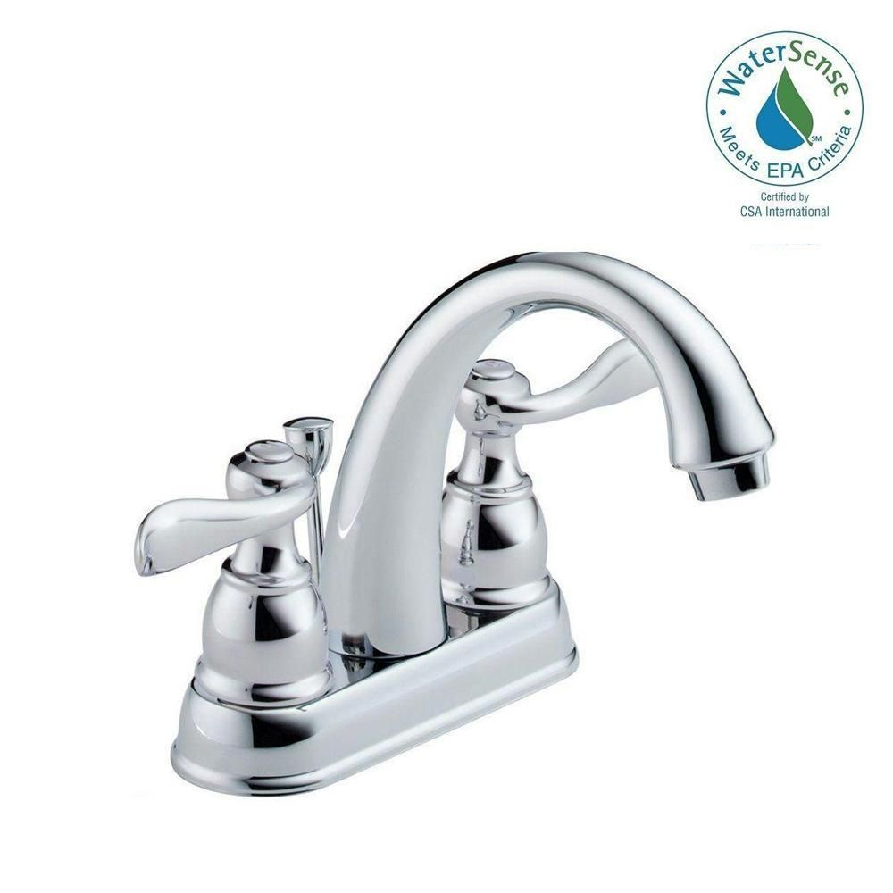 Delta Windemere 4 In Centerset 2 Handle Bathroom Faucet With Metal