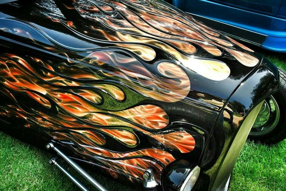 Embossed Flames! Awesome! … Custom cars paint, Car
