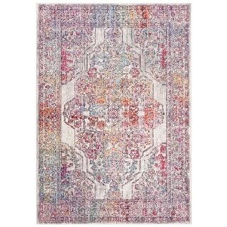 Photo of Safavieh Valencia Vintage Oriental Polyester Rug – 2'3″ x 4′ (2'3″ x 4′ – Ivory/Red)