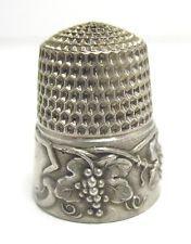 Винтаж стерлинговое серебро наперсток виноград размер 6 6/22/17 #9 4.9 Г