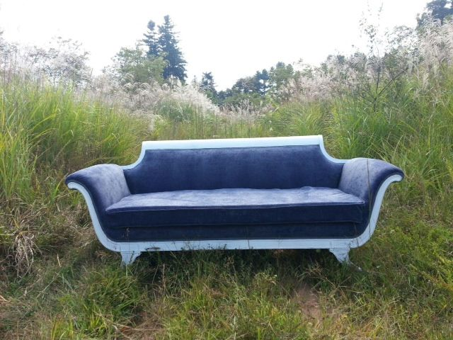 I Recovered This Duncan Phyfe Style Sofa With A Soft