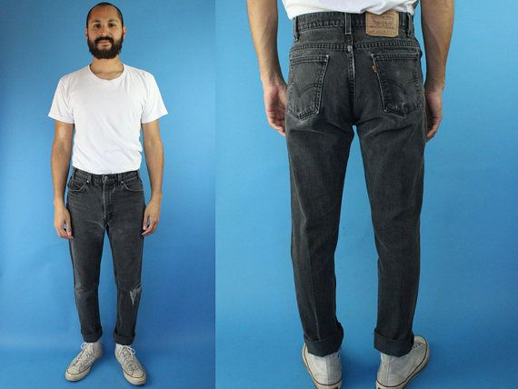 6641ef88a35 Size 30 Distressed Levi's 505 Orange Tab Jeans Black, Mens Levis 505 Jeans  Size 30, Distressed Black Levis Jeans 30, Waist 30 Levis Jeans 30
