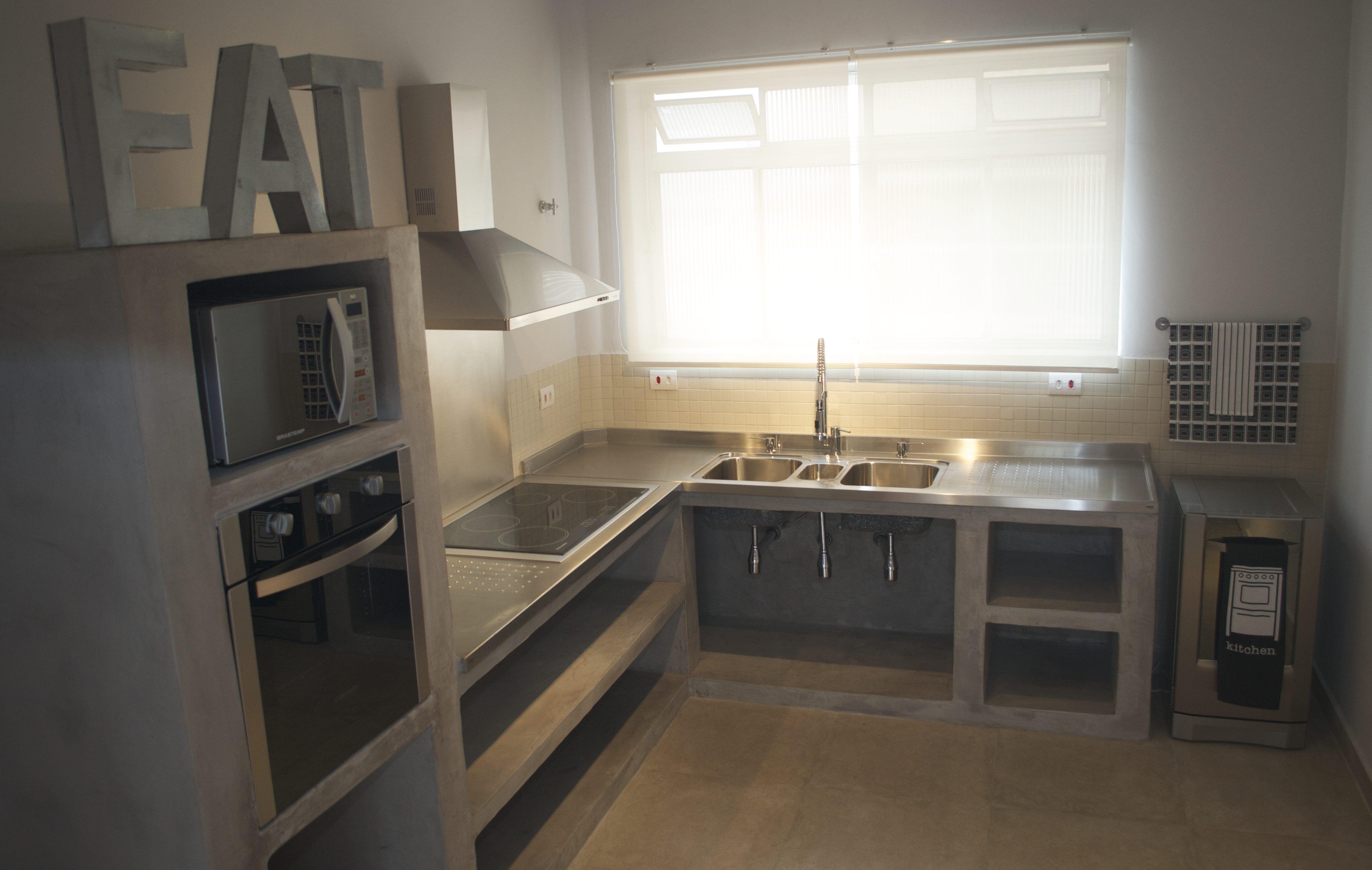 Bancada Cozinha Cimento Queimado Pesquisa Google Cozinha De