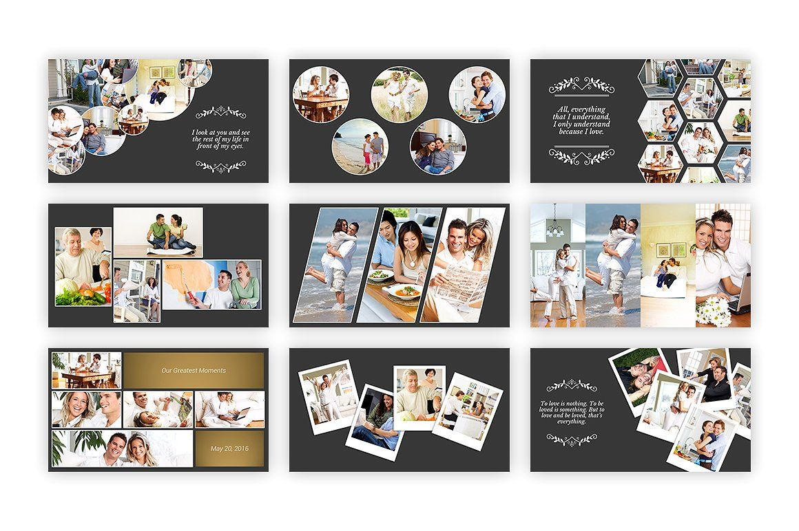 free photo collage templates for powerpoint