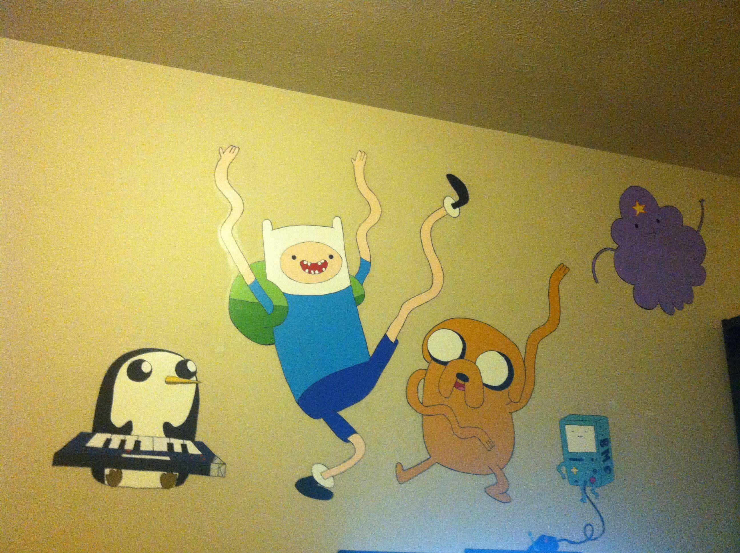 Cute Adventure Time mural | Adventure Time ^.^ | Pinterest | Humor
