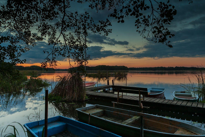 See im sonnenuntergang im spreewald brandenburg sch ner urlaub mit toller landschaft http
