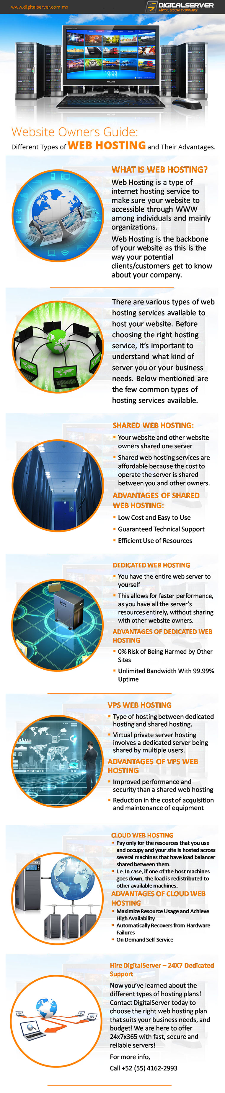 Types of Hosting Plans and Their Advantages - DigitalServer  -  Discover the types of web hosting options available! Learn more about the different types of web hosting plans and find out which type of hosting plan best fits your Web site's needs. Visit https://www.digitalserver.com.mx