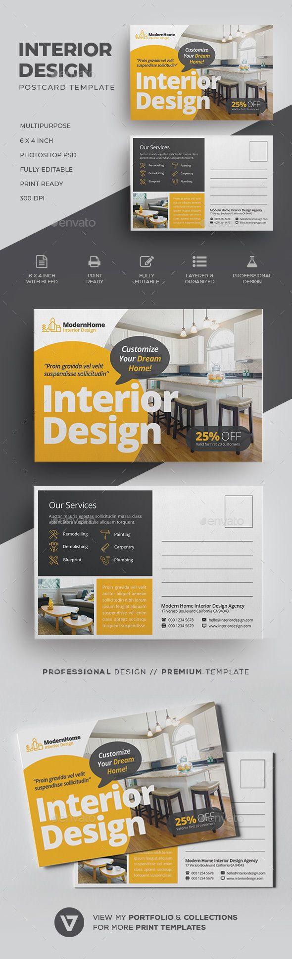 Interior Design Postcard Voucher