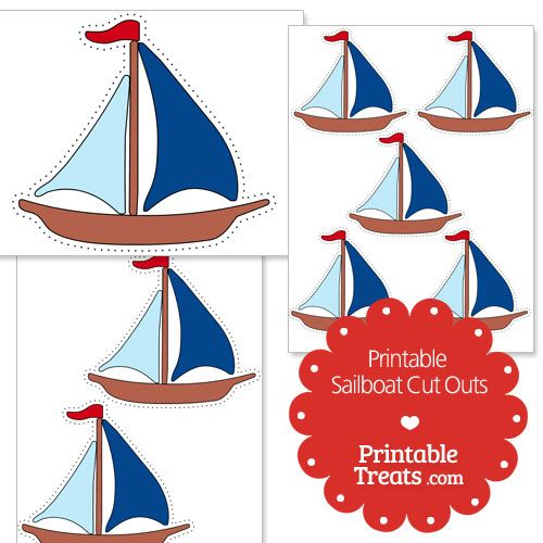 image regarding Sailboat Printable identified as Printable Sailboat Slash Outs Clroom Sailboat, Sailing