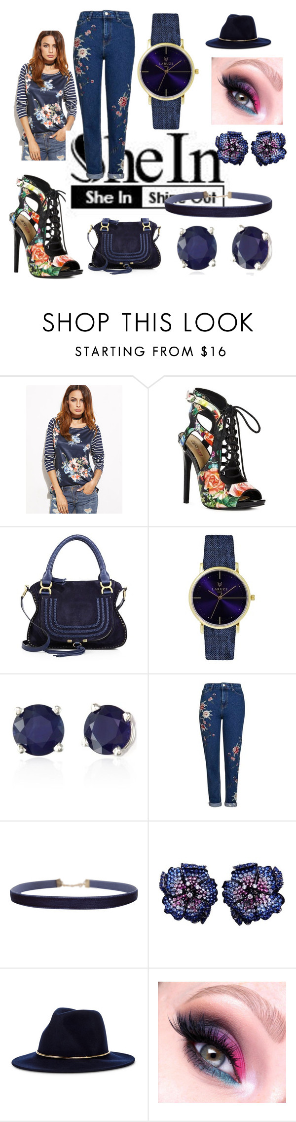 """""""SheIn Shine Out"""" by kindee01 ❤ liked on Polyvore featuring JustFab, Chloé, Laruze, Effy Jewelry, Topshop, Humble Chic and Sole Society"""