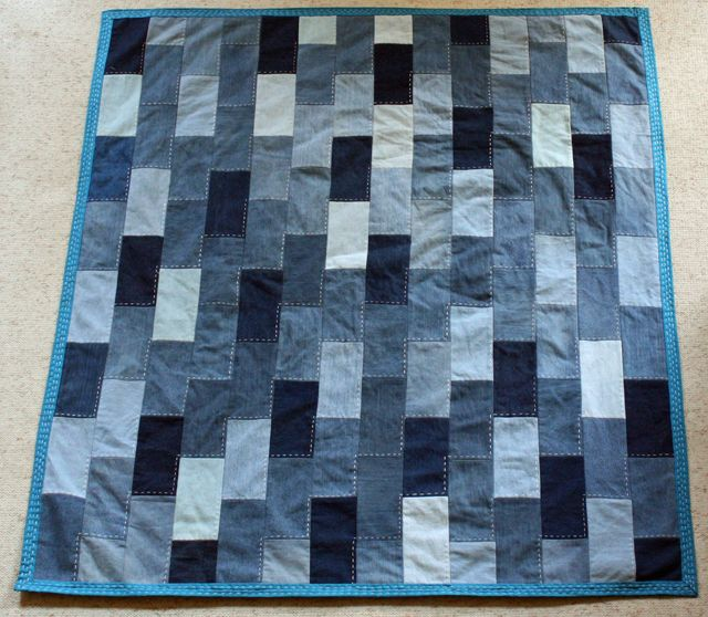 Denim Quilt Made From Old Jeans Quilting Blue Jean
