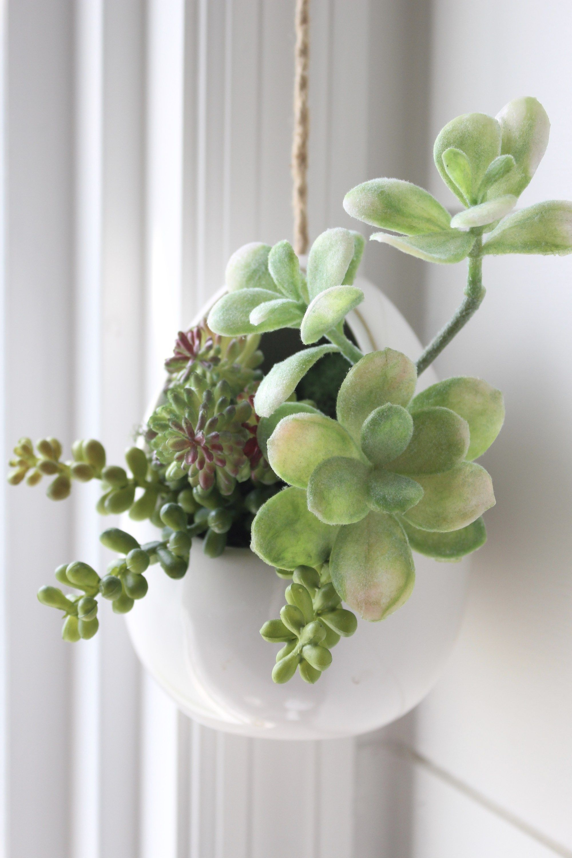 Modern Farmhouse Bathroom Remodel Reveal Faux Succulents Arrangements Succulents Decor Hanging Succulents