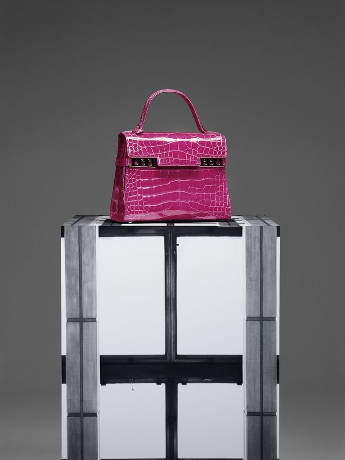 1ee8ea20f3 Delvaux Tempête MM, Alligator brillant : Rose Indien | Dream Bags in ...