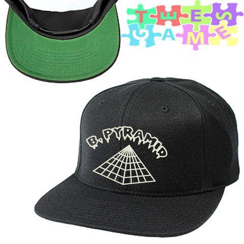 Black Pyramid Snapback Hat  1d727981809