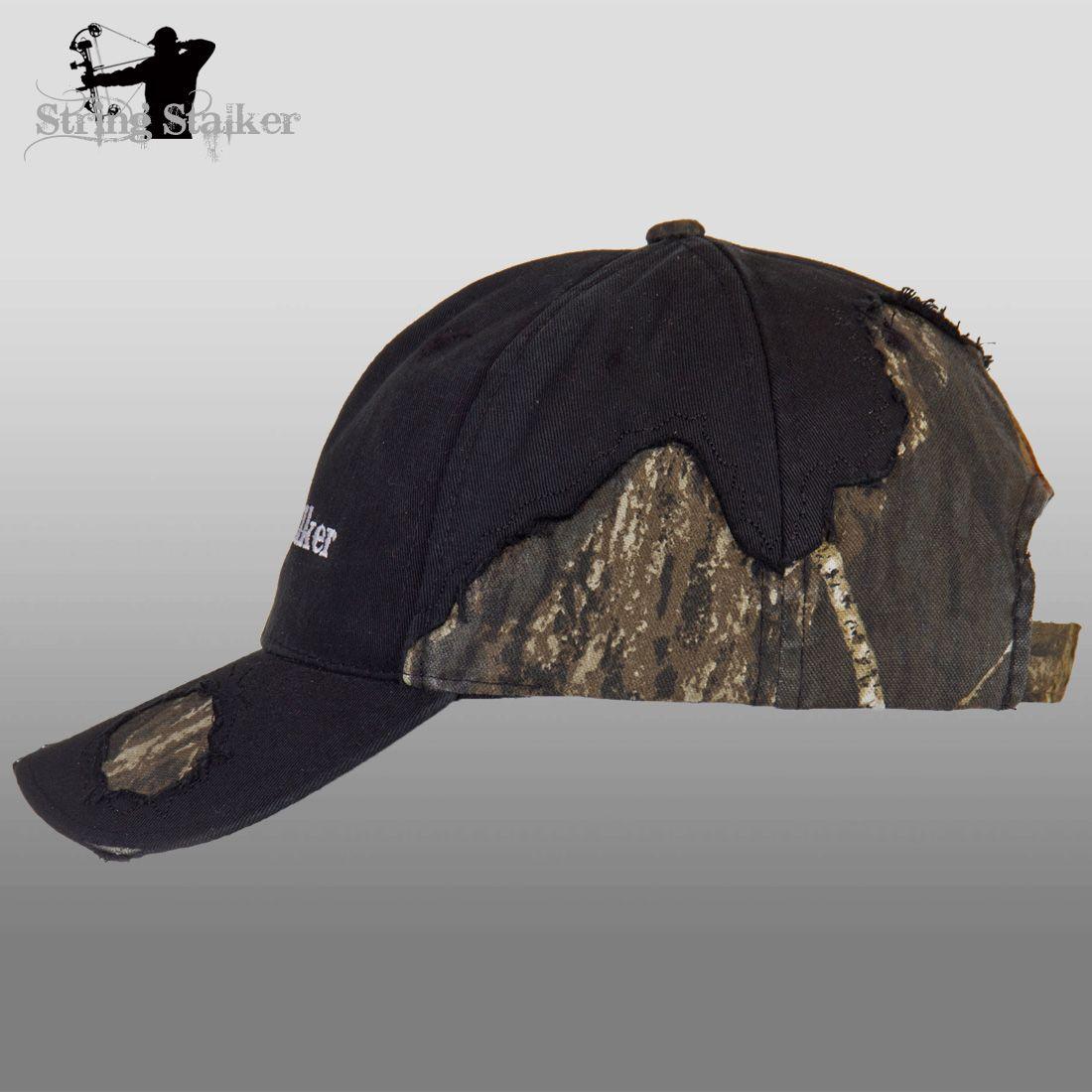 96701d0c4 Black String Stalker Frayed Camo Bow Hunting Hat | String Stalker ...