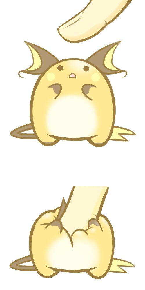 Squishy Pokemon Anime : Tags: Anime, Pokemon, Poking, Raichu, Adorably Cute, Fluffy, Finger Pokemon Pinterest The ...