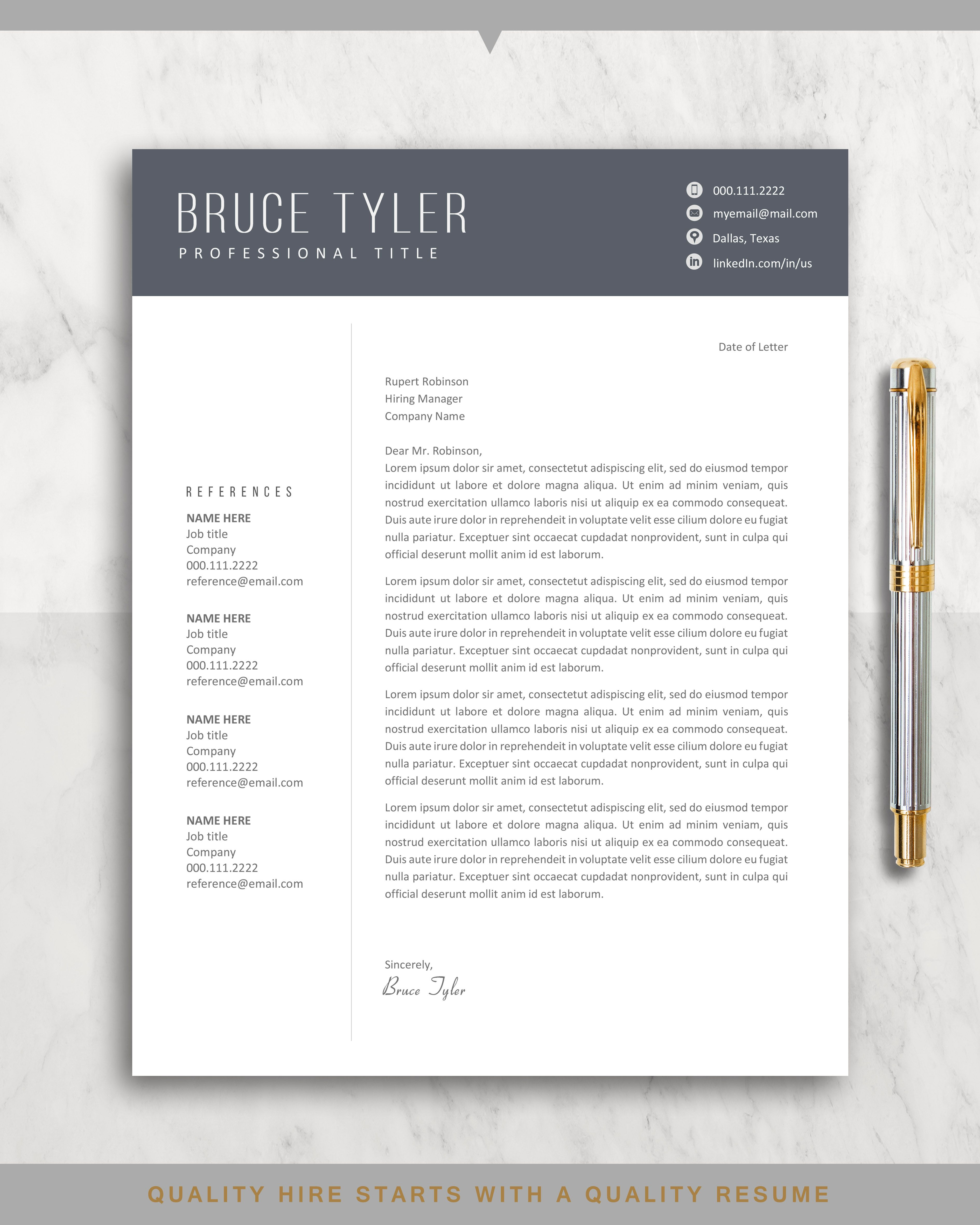 Resume Template Professional Cv Templates Project Manager Etsy Resume Template Resume Template Professional Lettering