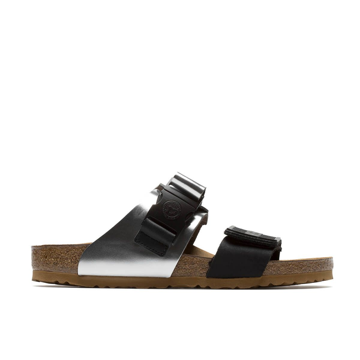 5c439780fefa56 Rotterdam Combo sandals from the Rick Owens x Birkenstock collection in  black and silver