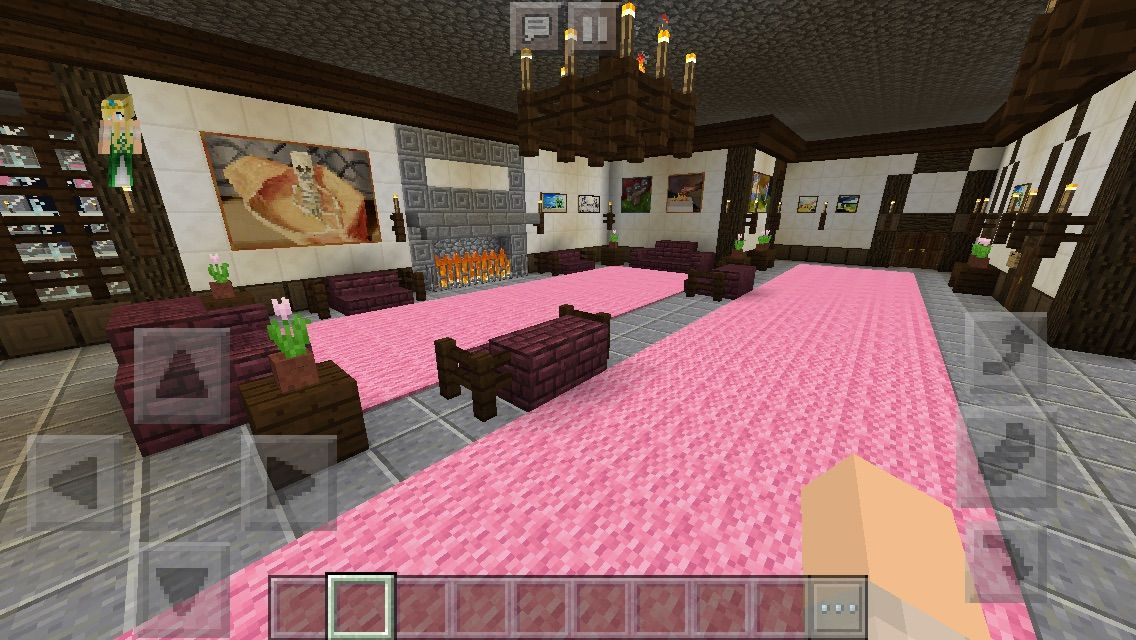 Chaisleán na Mban Glas (Green Lady Castle) Sitting Room #minecraft ...
