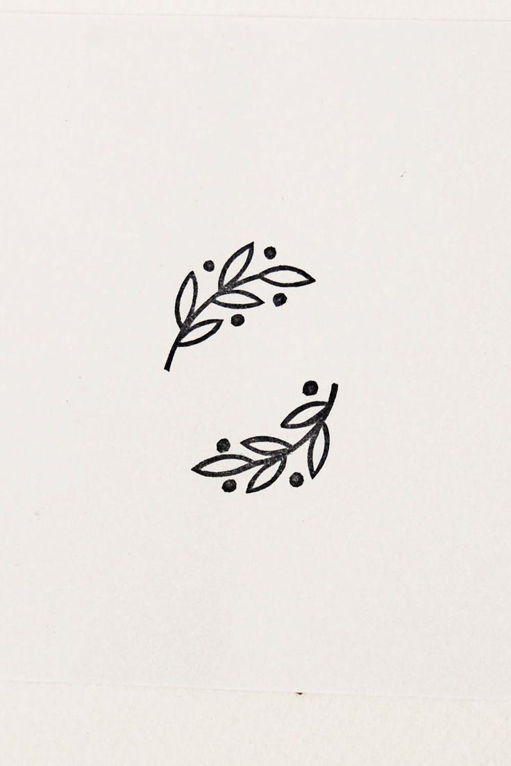 Laurel stamp, Rubber stamps set, set of 2 stamps, olive branch stamp, Botanical stamp, handmade stam