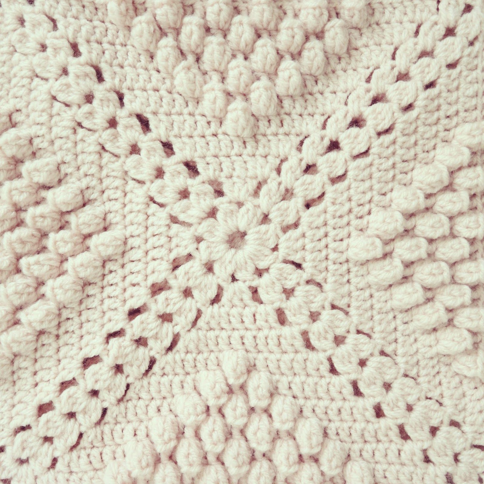 ByHaafner, crochet, popcorn, bobble stitch throw, blanket, powder ...
