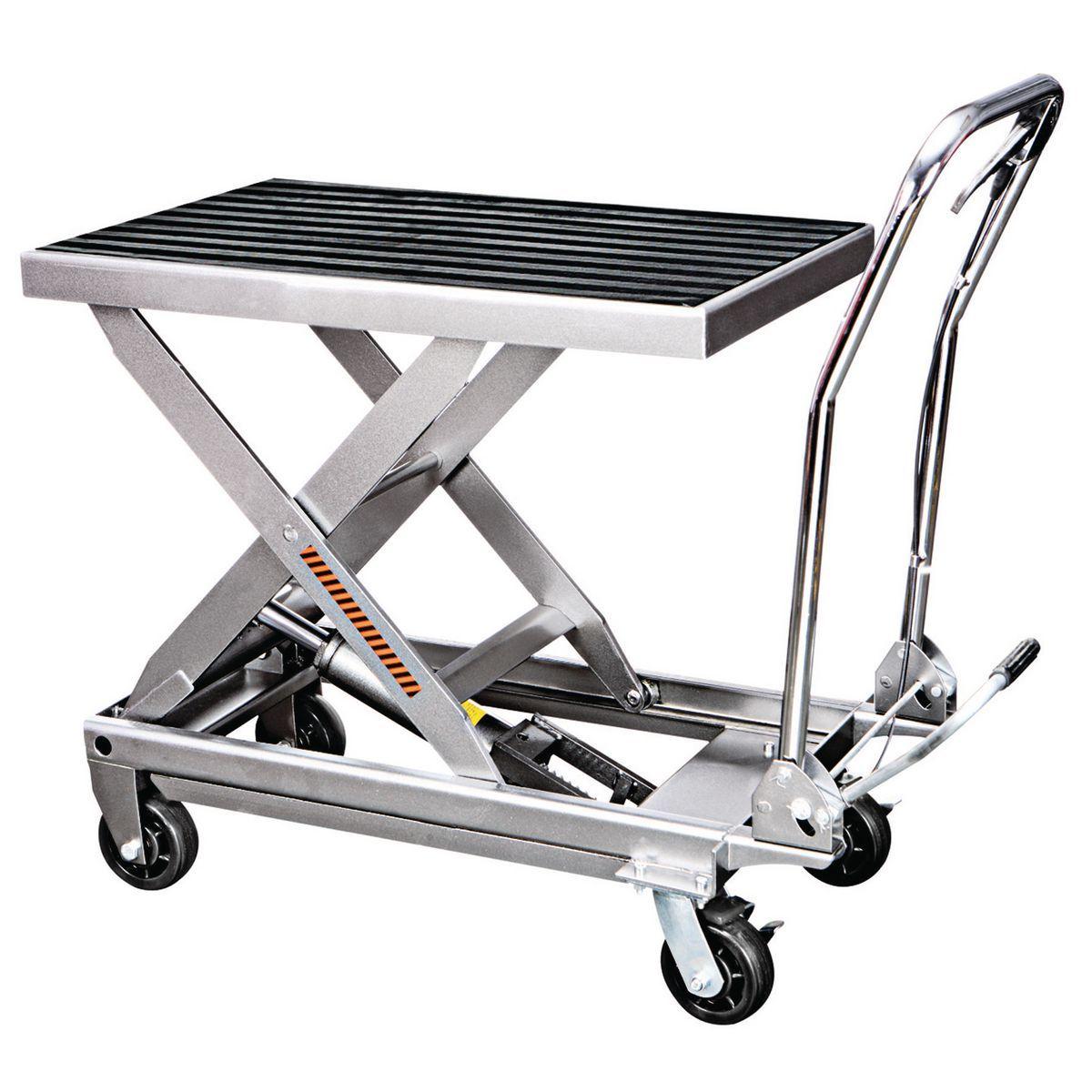1000 lbs. Capacity Hydraulic Table Cart Wagon wheel