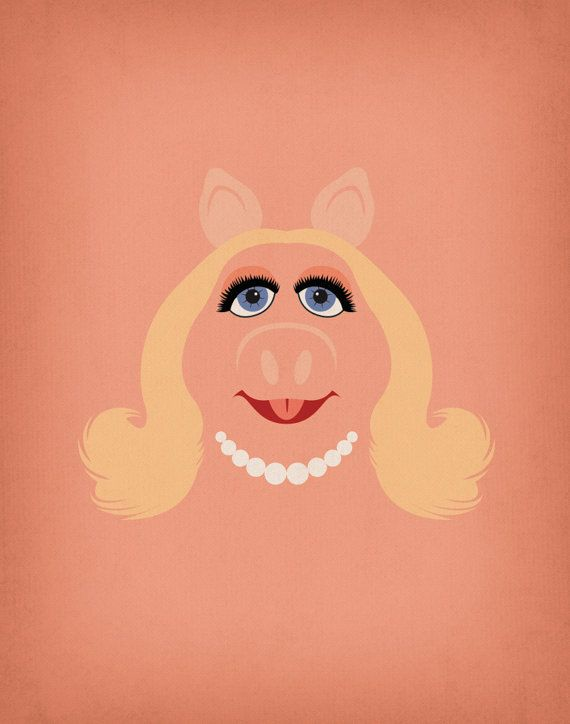 The Muppet Show Miss Piggy Minimalist Tote Bag By Theretroinc Muppets Dibujos Animados Clasicos Cerdita Peggy