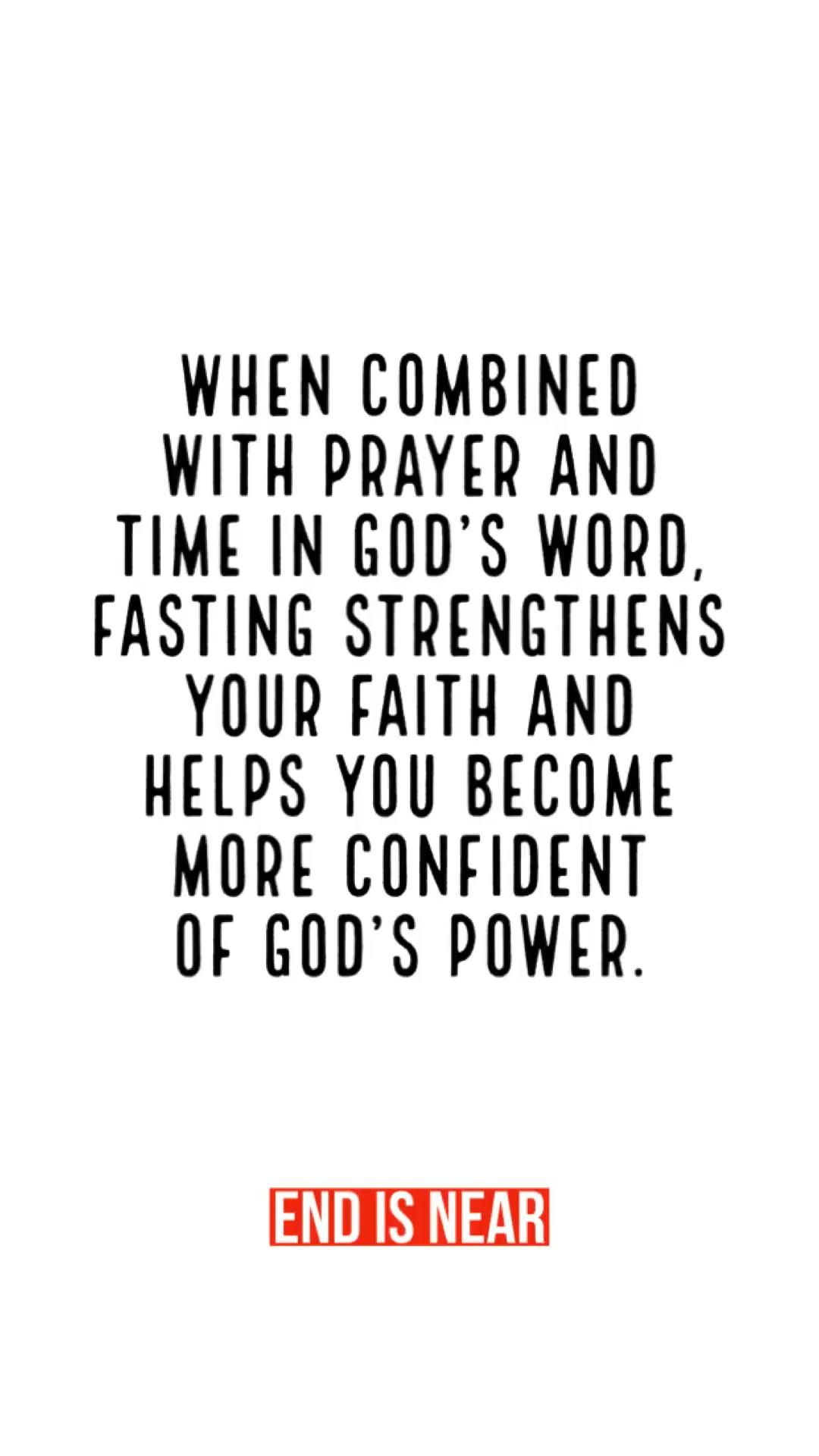 More confident in God's Power.