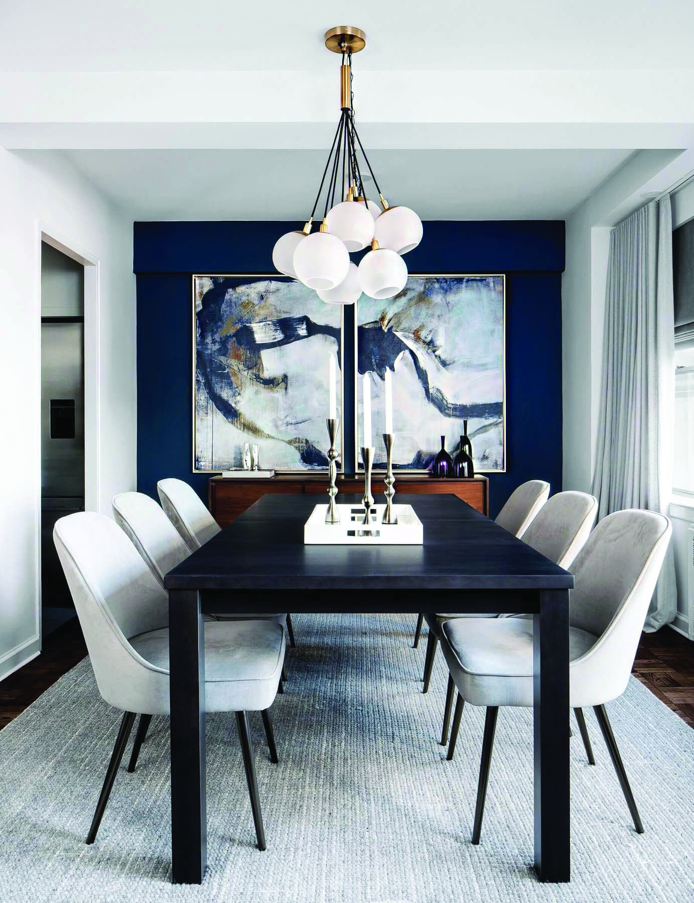Dining Room Lighting Ideas For Every Single Style Homes Tre Small Dining Room Decor Dining Room Small Dining Room Blue