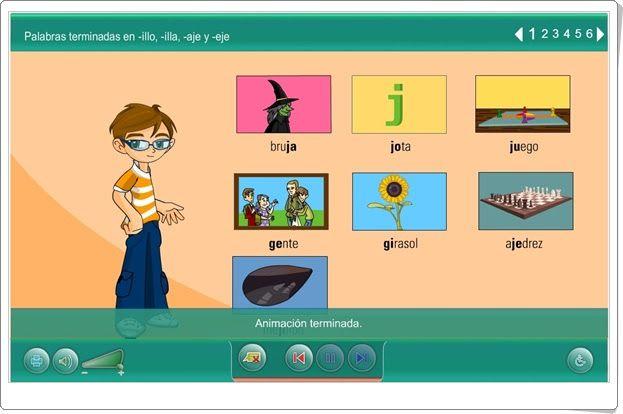 Palabras Terminadas En Illo Illa Aje Y Eje Edu365 Cat Juegos Educativos Online Juegos Educativos Nivel De Educación