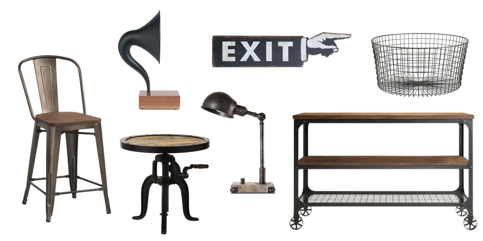 12 Industrial Decor Items That Add an Old-School Edge   Industrial ...