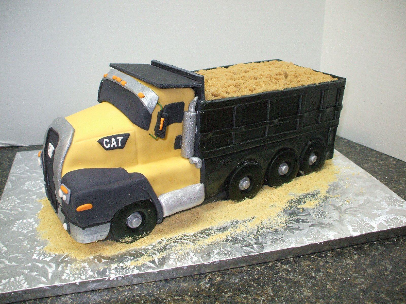 Cat Dump Truck Cake