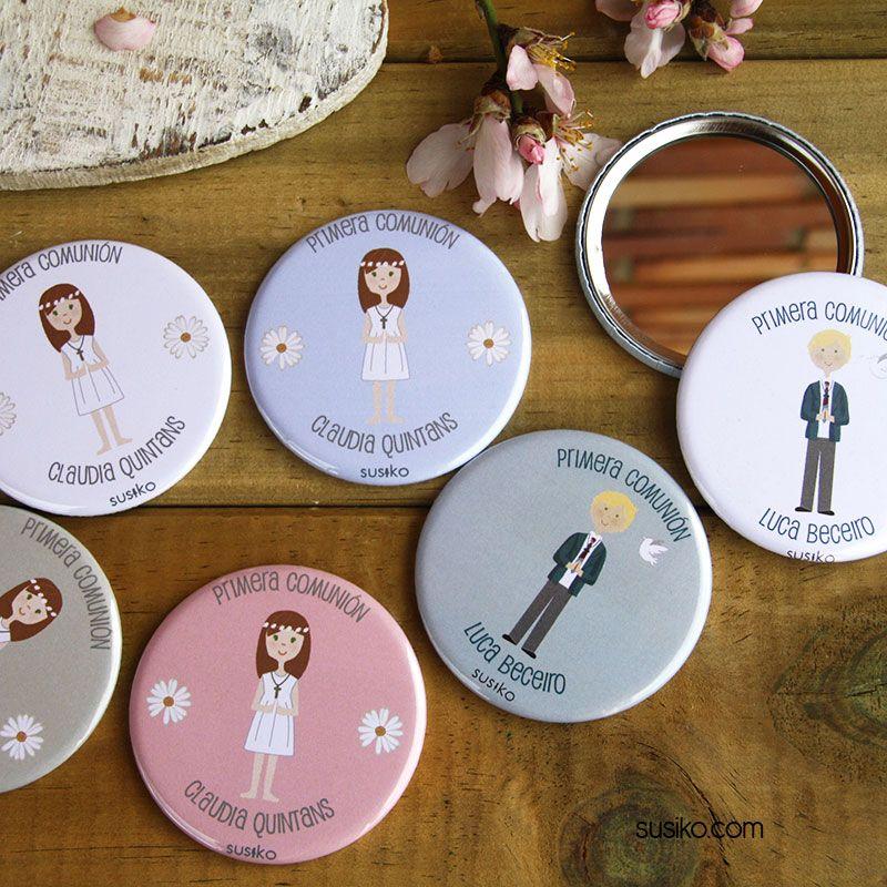 Espejos y chapitas personalizados para la primera comuni n primera comuni n pinterest - Espejos originales baratos ...