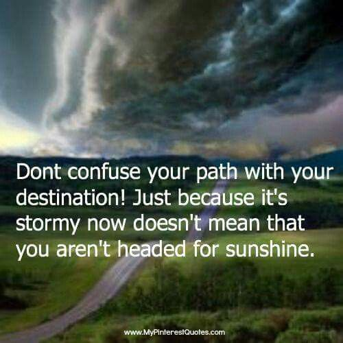 There's always sunshine after the storm