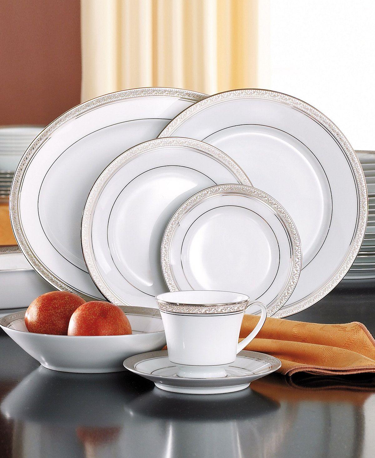 Noritake Crestwood Platinum 50-Pc. Service for 8. Fine ChinaFine DiningDinnerware ... & Noritake Crestwood Platinum 50-Pc. Service for 8 | Fine china ...