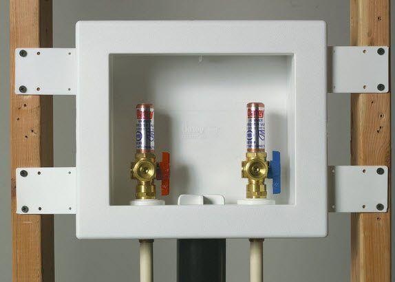 Installing A Washing Machine Laundry Room Design Diy Plumbing Bathroom Plumbing