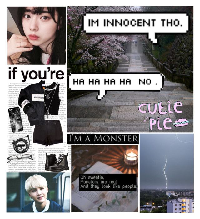Monsters in my head saying the unsaid by winter213 on Polyvore featuring polyvore Zara rag & bone Dr. Martens Forever 21 Casetify Concord fashion style clothing