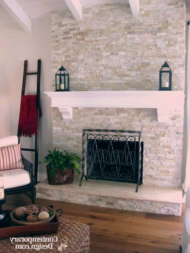 Stone Fireplace Makeover Whitebrickfireplace Wood Mantel White Brick Fireplace Ideas In 2020 White Brick Fireplace Brick Fireplace Makeover Stone Fireplace Makeover