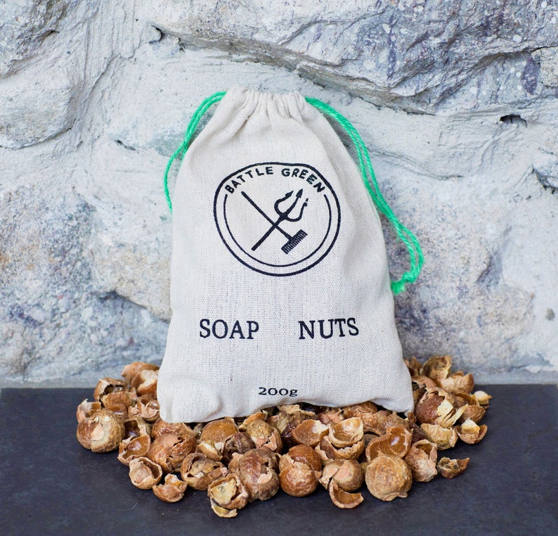 Organic Soap Nuts Berries Natural Laundry Detergent Battle