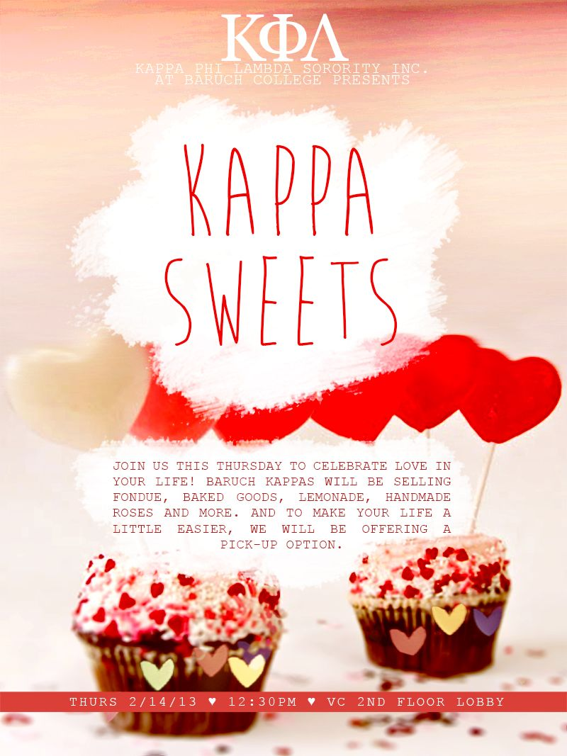 valentine s day bake flyer kappa phi lambda sorority inc valentine s day bake flyer kappa phi lambda sorority inc theta chapter at baruch college