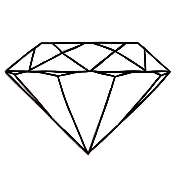 Diamond Shape Diamond Shape Gem Sketches Coloring Pages Shape